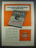 1946 Timken Alloy Steel and Seamless Tubes Ad