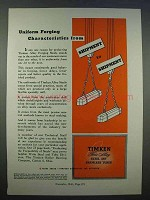1946 Timken Alloy Steel Ad - Uniform Characteristics