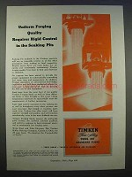 1946 Timken Alloy Steel Ad - Control in Soaking Pits