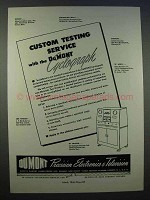 1946 DuMont Cyclograph Ad - Custom Testing Service