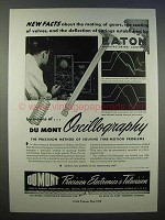 1946 Dumont Oscillography Ad - New Facts by Eaton