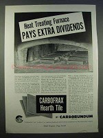 1946 Carborundum Carbofrax Hearth Tile Ad - Pays Extra