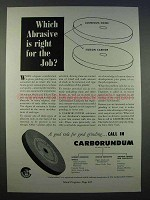 1946 Carborundum Grinding Ad - Which Abrasive