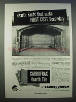 1946 Carborundum Carbofrax Hearth Tile Ad - Facts