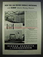 1946 Carborundum Globar Electric Heating Elements Ad