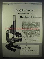 1946 Bausch & Lomb CM Metallurgical Microscope Ad
