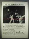 1946 Bausch & Lomb Optical Science Ad - Steel Lines