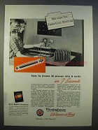 1946 Westinghouse Induction Heating Ad - in 7 Seconds