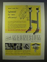 1946 Dow Magnesium Ad - Lightened for New Efficiency