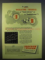 1946 Babcock & Wilcox Insulating Firebrick Ad