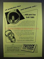 1946 Babcock & Wilcox Seamless & Welded Tubes Ad