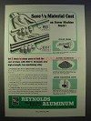 1946 Reynolds Aluminum Ad - Save 1/2 Material Cost