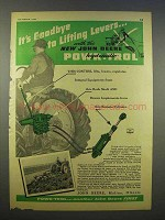 1946 John Deere Powr-Trol Ad - Goodbye Lifting Levers