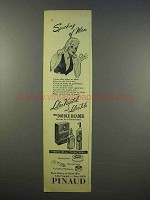 1946 Pinaud Lilac Vegetal, Talc Toiletries Ad