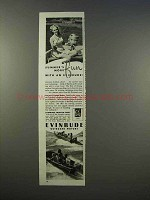 1946 Evinrude Outboard Motor Ad - Summer's More Fun