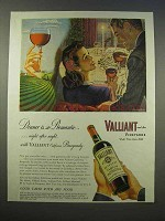 1946 Valiant California Burgundy Wine Ad - So Romantic