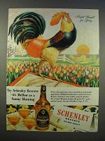 1946 Schenley Whiskey Ad - Bright Thought for Spring