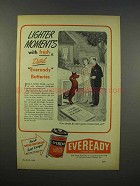 1946 Eveready Batteries Ad - Lighter Moments