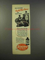 1946 Simoniz For Floors Ad - Crystal-Clear Charm