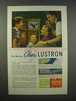 1946 Monsanto Lustron Plastic Ad - Clear View