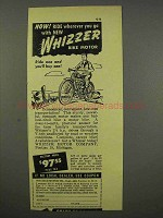 1946 Whizzer Motorcycle Ad - Ride Wherever You Go
