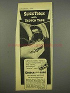 1946 Scotch Tape Ad - Slick Trick