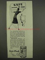 1946 Sani-Flush Cleaner Ad - Safe Because It's Clean