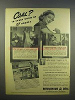 1945 Bituminous Coal Ad - In Every Room of my House!