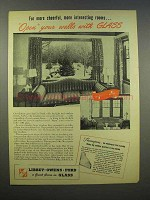 1945 Libbey-Owens-Ford Glass Ad - Thermopane Window