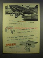 1945 Dow Dowmetal Magnesium Ad - Alert Airlines