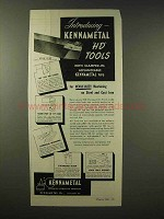 1945 Kennametal HD Clamped-On Tools Ad