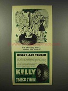 1945 Kelly-Springfield Tire Ad - His Dad Was Right
