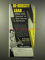 1945 Eberhard Faber Van Dyke Microtomic Pencil Ad