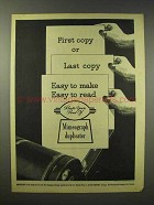 1945 Mimeograph Duplicator Ad - Easy to Read