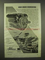 1945 GM Allison Engines Ad - P-38 Lightning Bombers