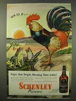 1945 Schenley Reserve Whiskey Ad - Hop To It