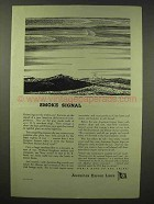 1945 American Export Lines Ad - Smoke Signal