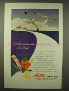 1945 Matson Cruise Ad - Across Blue Reaches of Pacific
