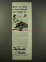 1945 Motorola Playmate Radio Ad - Take a Beachhead