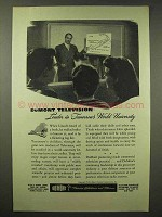 1945 Dumont Television Ad - Tomorrow's World University