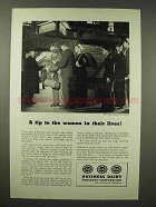 1945 National Dairy Ad - Tip to The Women in Lives