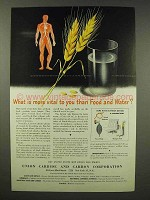 1945 Union Carbide and Carbon Ad - More Vital Than Food