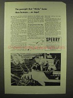 1945 Sperry Corporation Ad - Gunsight Faster Than Japs