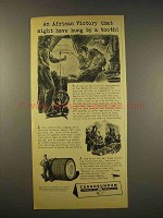 1944 Carborundum Abrasives Ad - African Victory Tooth