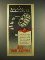 1944 Timken Roller Bearings Ad - First Choice