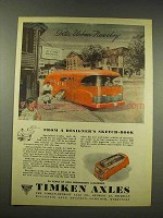 1944 Timken Axles Ad - Inter-Urban Newsboy