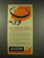 1944 Disston Tool Ad - A Special File for a Special Job