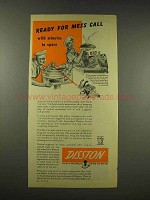 1944 Disston Knife Tool Ad - Ready for Mess Call