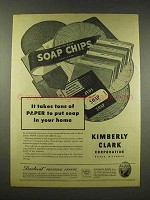 1944 Kimberly-Clark Paper Ad - Put Soap in Your Home