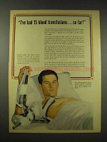 1944 Revere Copper and Brass Ad - 15 Blood Transfusions